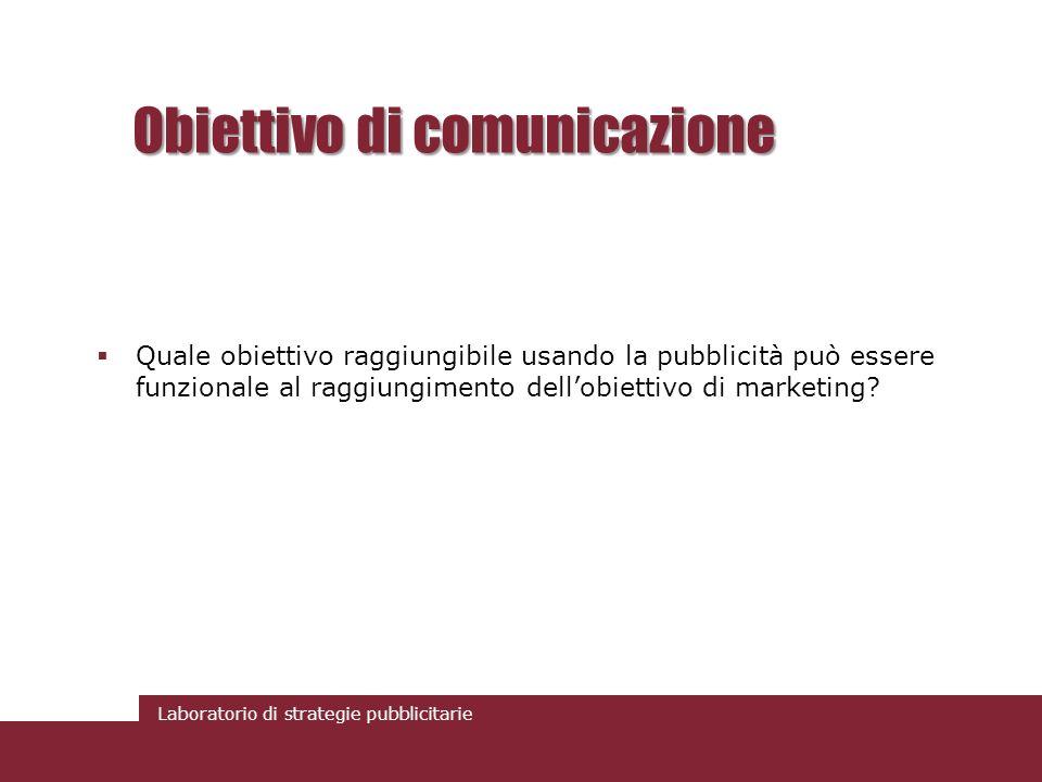 Obiettivo di comunicazione