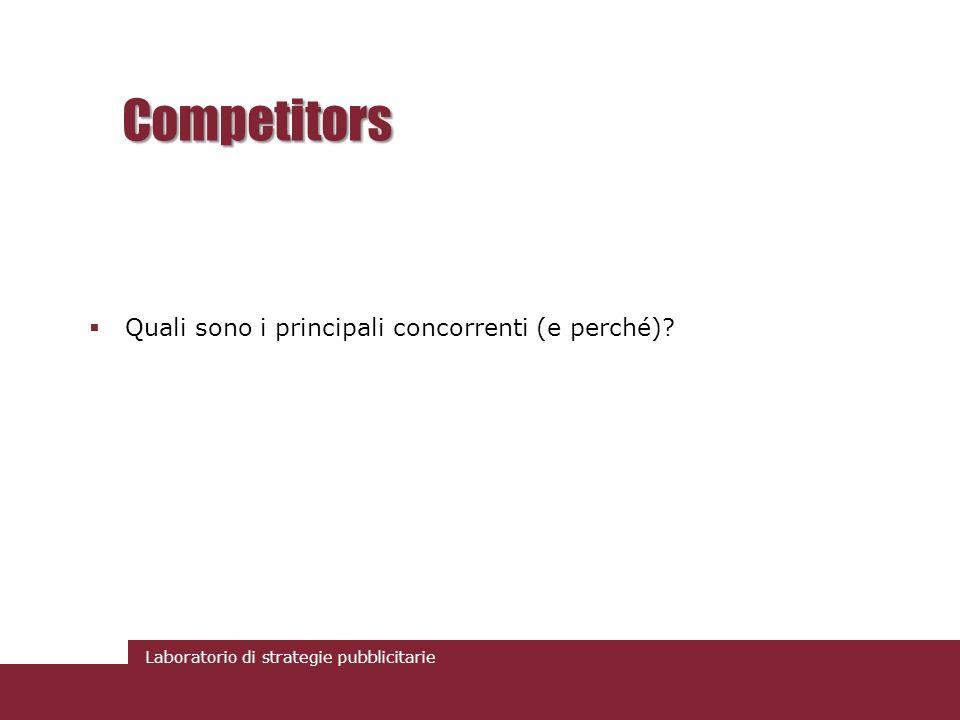 Competitors Quali sono i principali concorrenti (e perché)