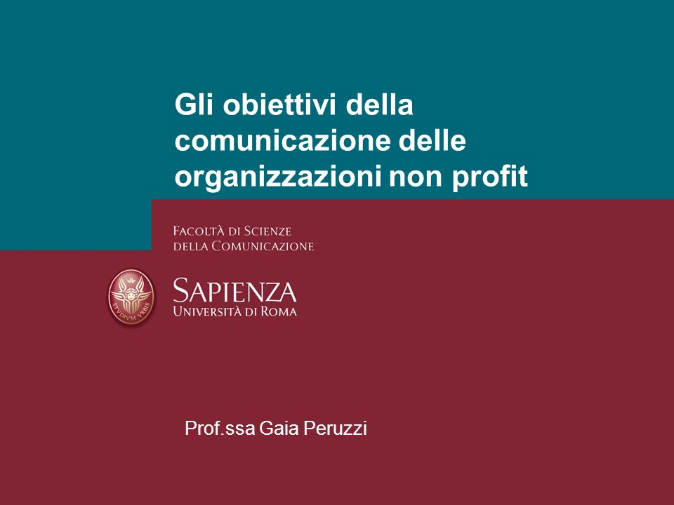 Gli obiettivi della comunicazione delle organizzazioni non profit