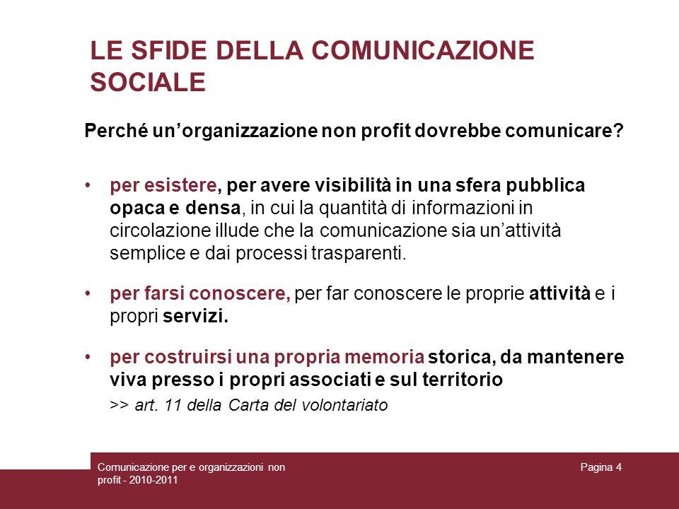 LE SFIDE DELLA COMUNICAZIONE SOCIALE
