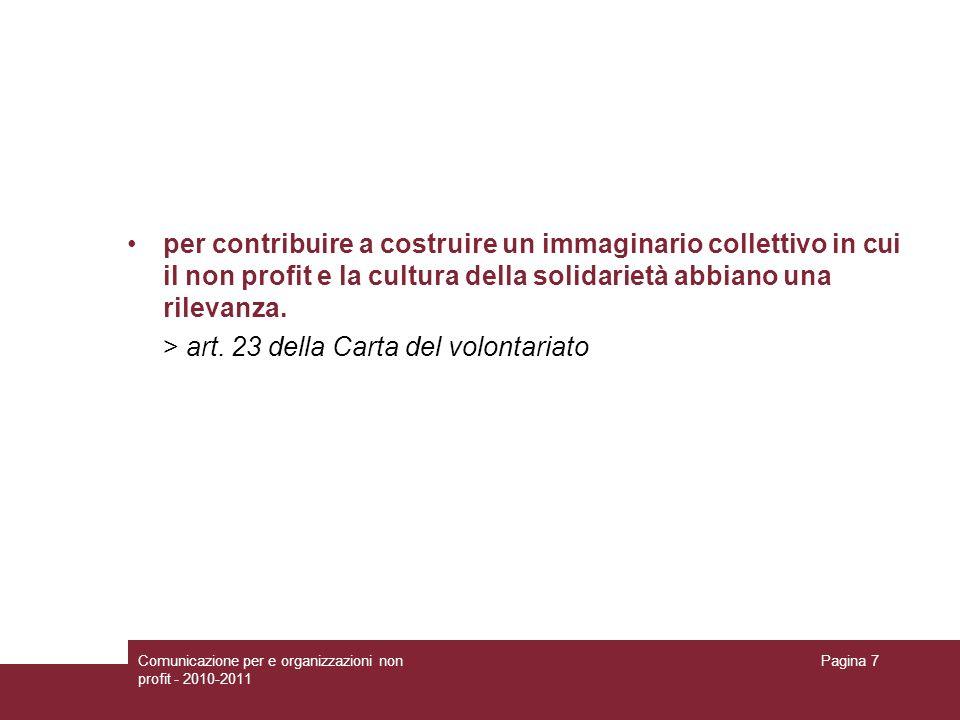 > art. 23 della Carta del volontariato