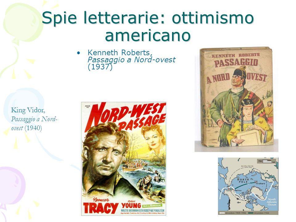 Spie letterarie: ottimismo americano