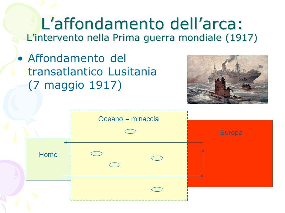 L'affondamento dell'arca: L'intervento nella Prima guerra mondiale (1917)