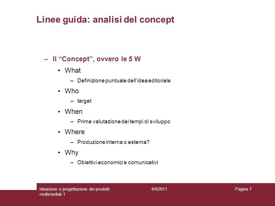 Linee guida: analisi del concept