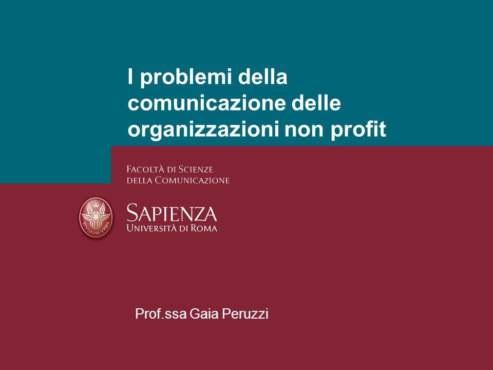 I problemi della comunicazione delle organizzazioni non profit