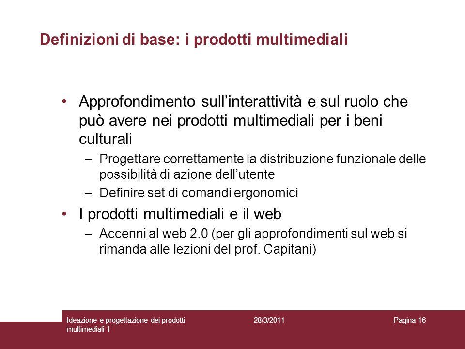 Definizioni di base: i prodotti multimediali