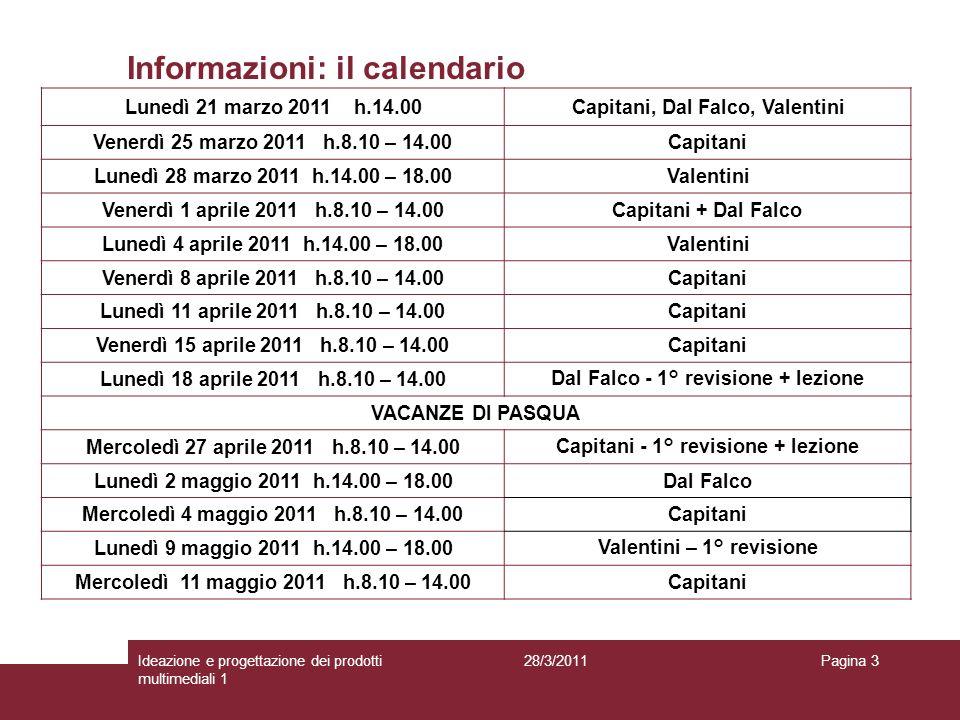 Informazioni: il calendario