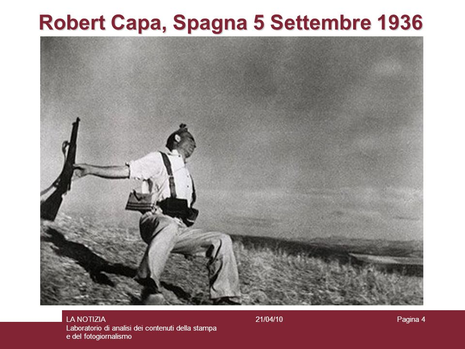 Robert Capa, Spagna 5 Settembre 1936