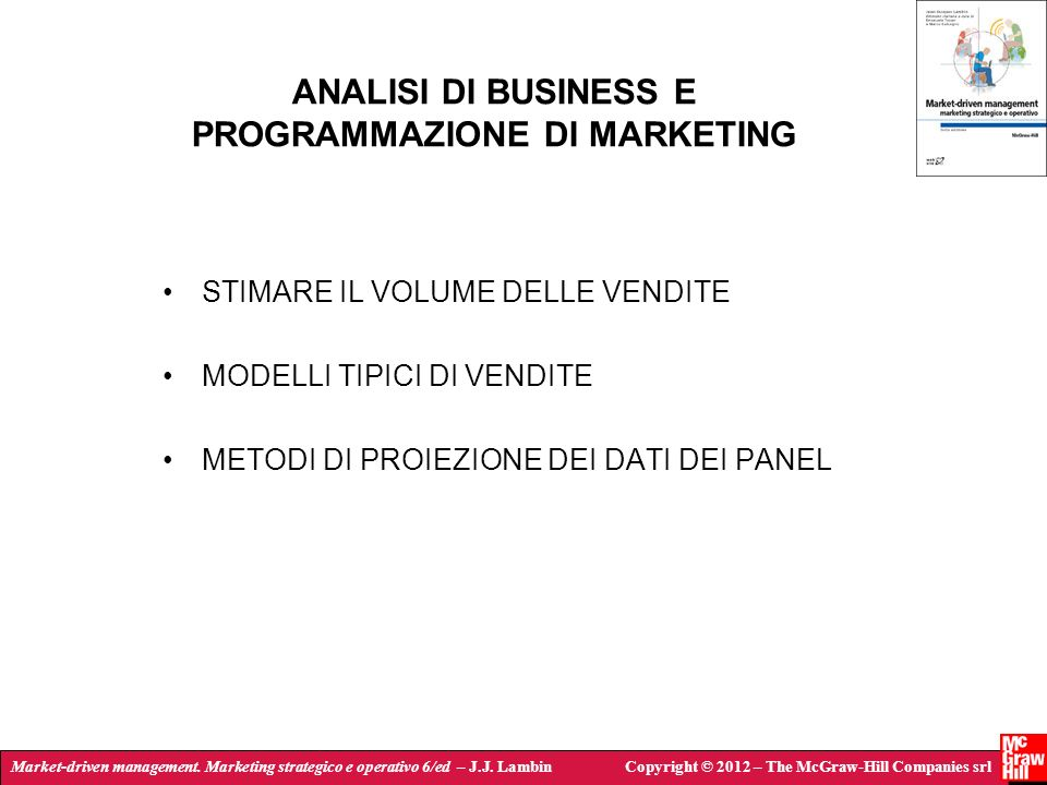 ANALISI DI BUSINESS E PROGRAMMAZIONE DI MARKETING