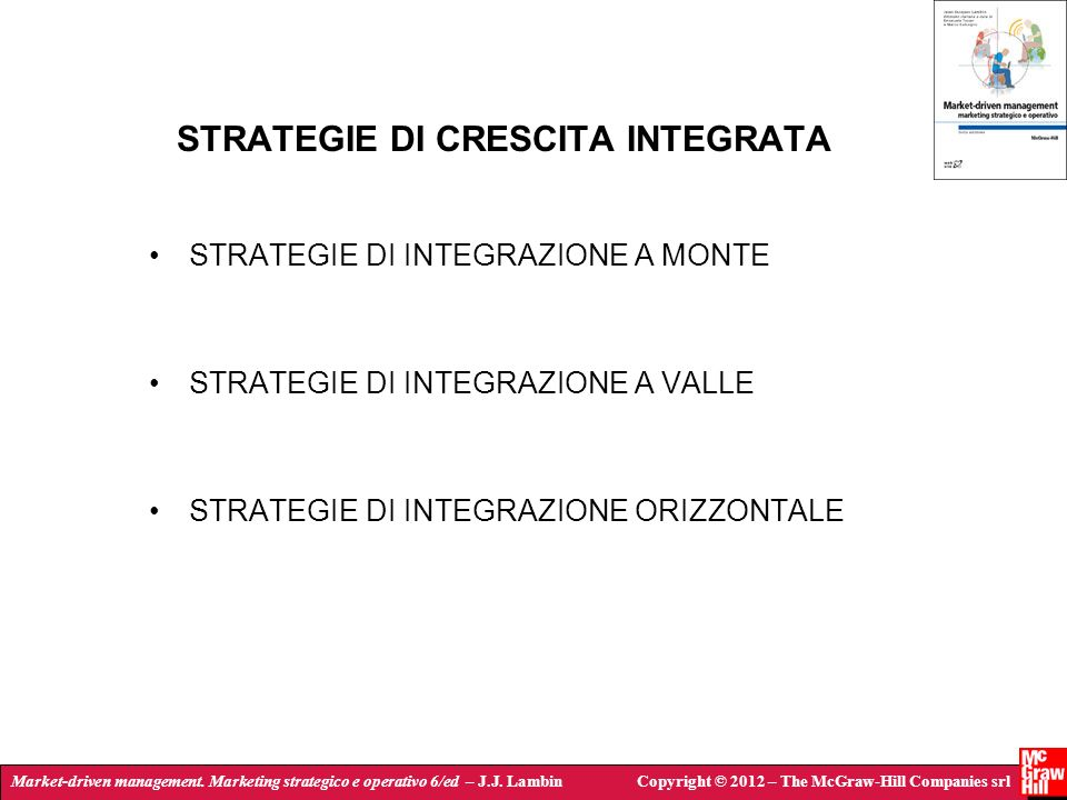 STRATEGIE DI CRESCITA INTEGRATA