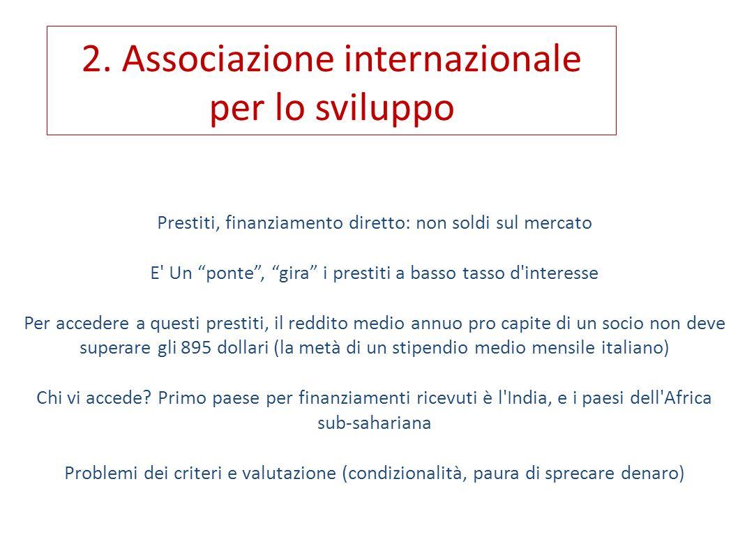 2. Associazione internazionale per lo sviluppo