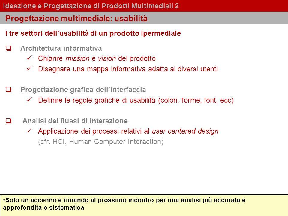 Progettazione multimediale: usabilità