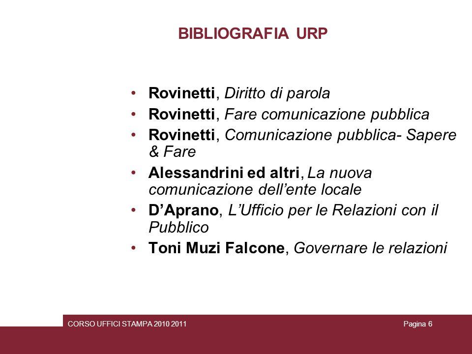 Rovinetti, Diritto di parola Rovinetti, Fare comunicazione pubblica