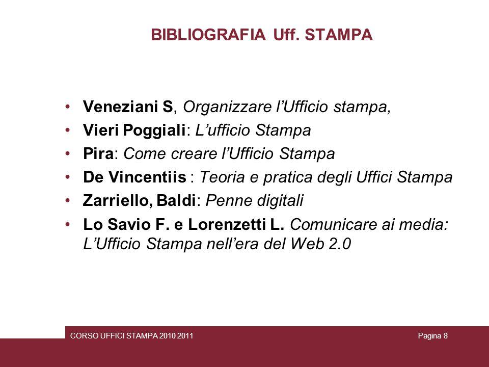 BIBLIOGRAFIA Uff. STAMPA
