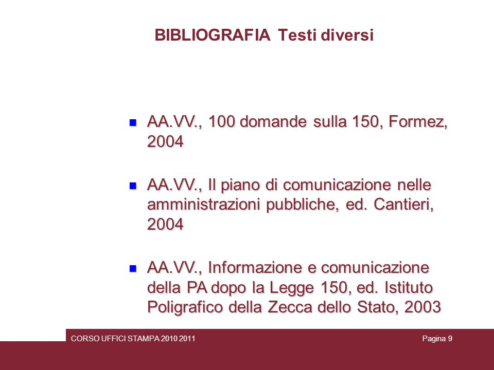 BIBLIOGRAFIA Testi diversi