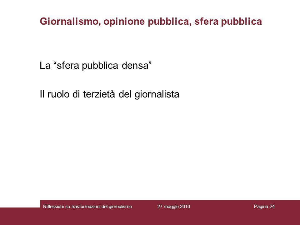 Giornalismo, opinione pubblica, sfera pubblica