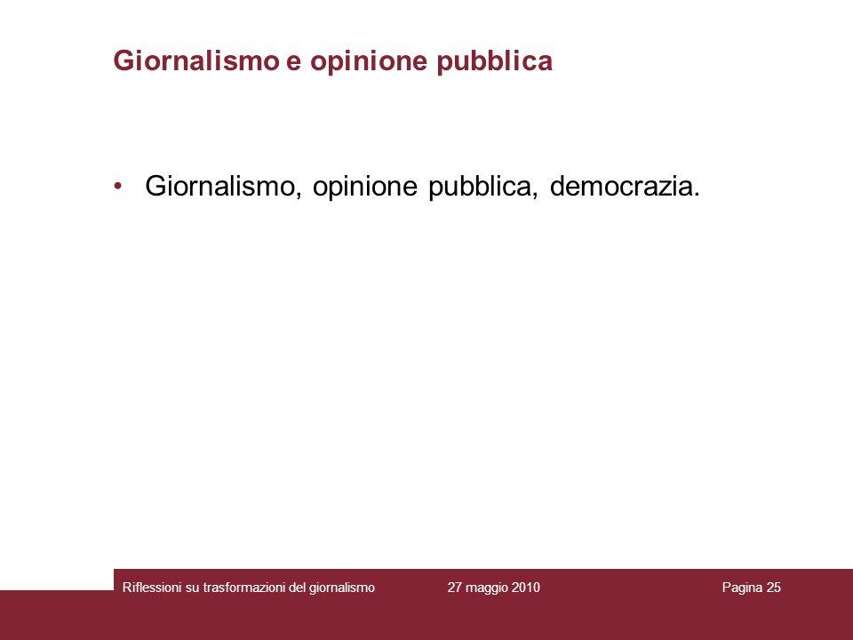 Giornalismo e opinione pubblica