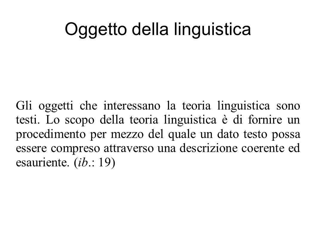 Oggetto della linguistica