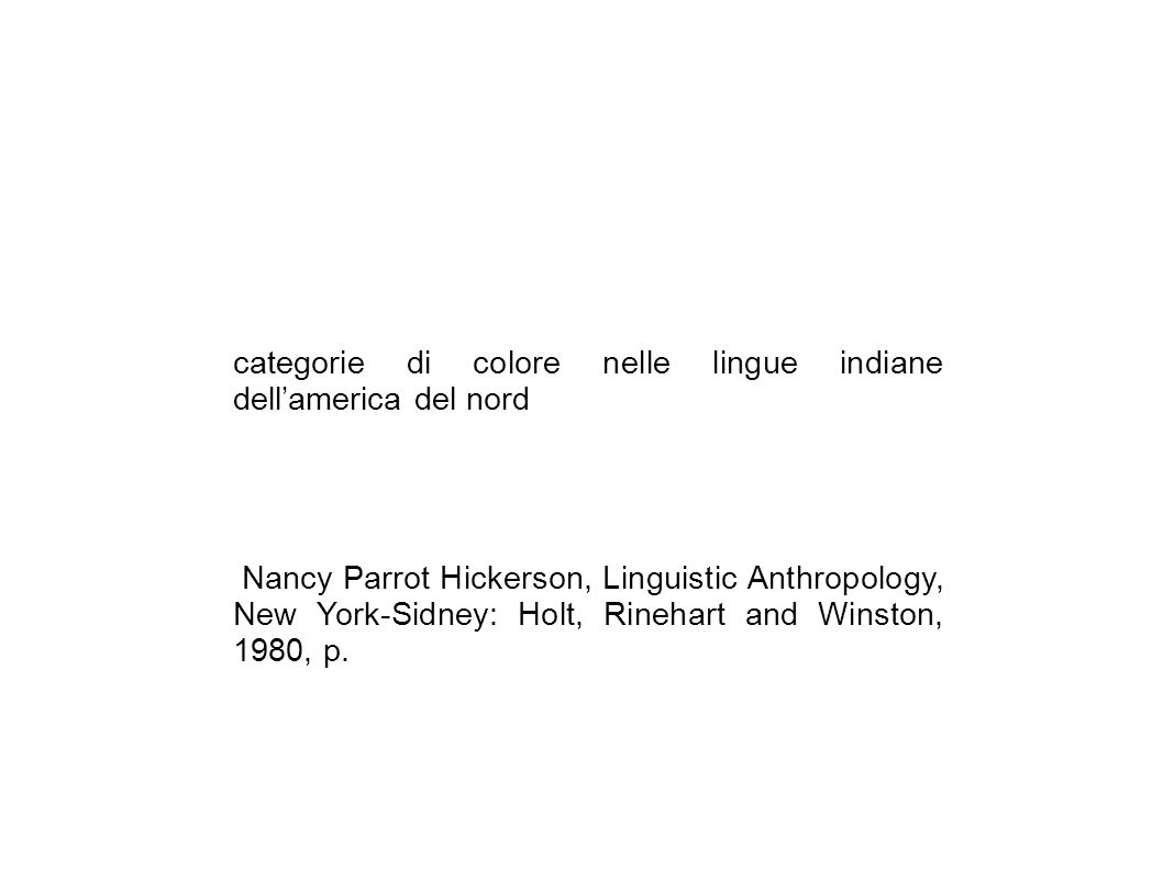 categorie di colore nelle lingue indiane dell'america del nord