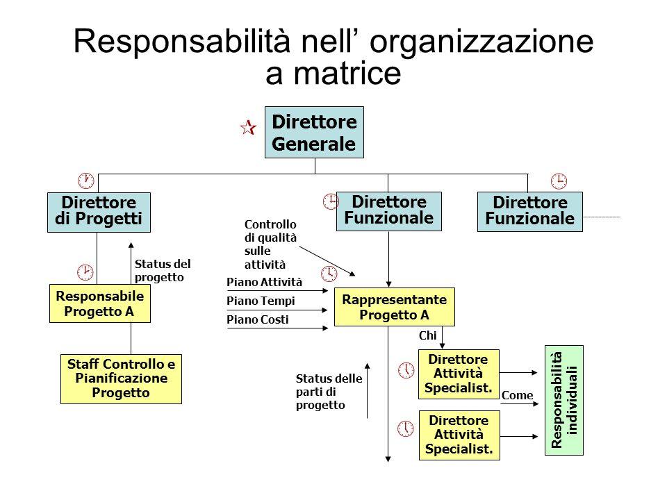 Responsabilità nell' organizzazione a matrice