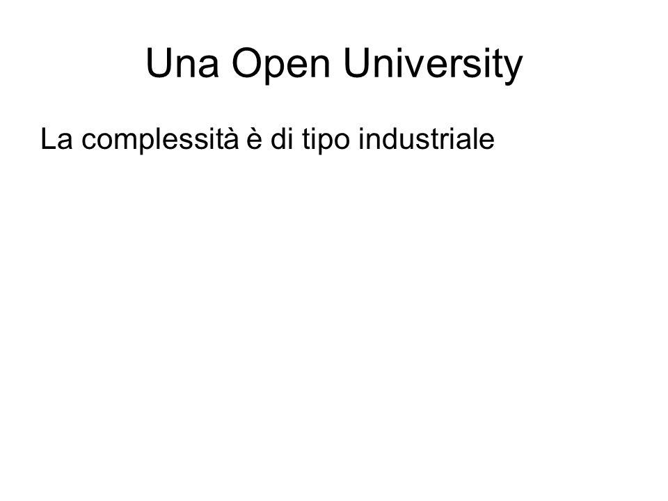Una Open University La complessità è di tipo industriale