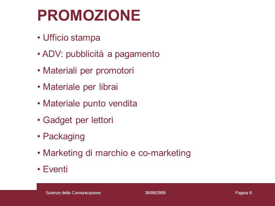 PROMOZIONE Ufficio stampa ADV: pubblicità a pagamento
