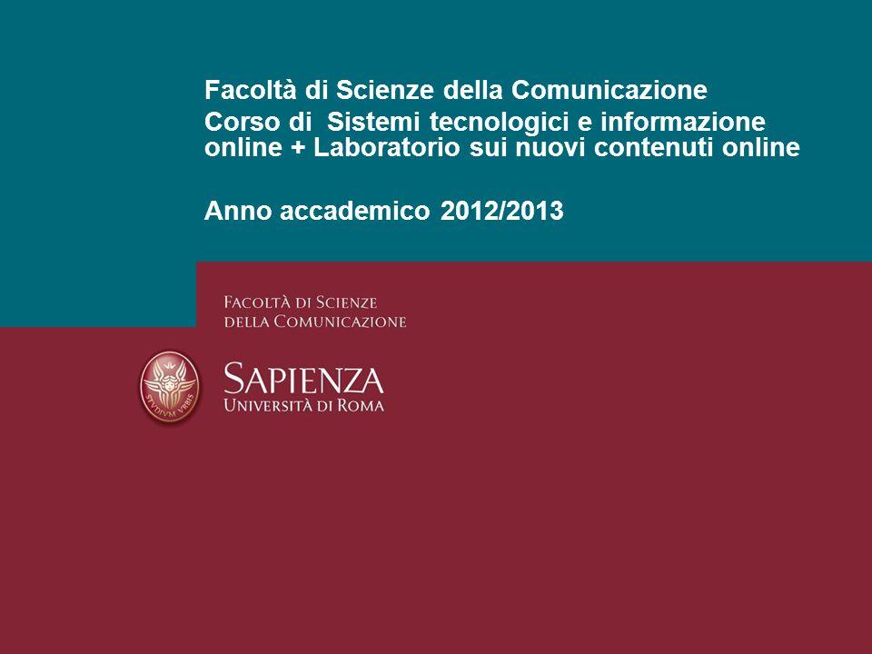 Facoltà di Scienze della Comunicazione