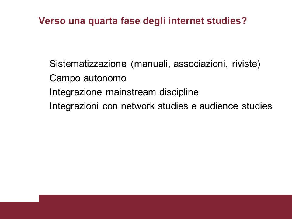 Verso una quarta fase degli internet studies