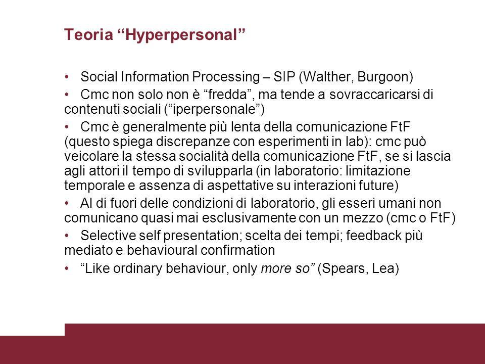 Teoria Hyperpersonal