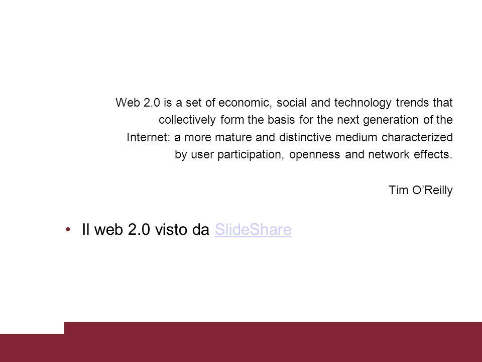 Il web 2.0 visto da SlideShare