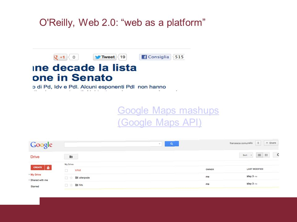 O Reilly, Web 2.0: web as a platform
