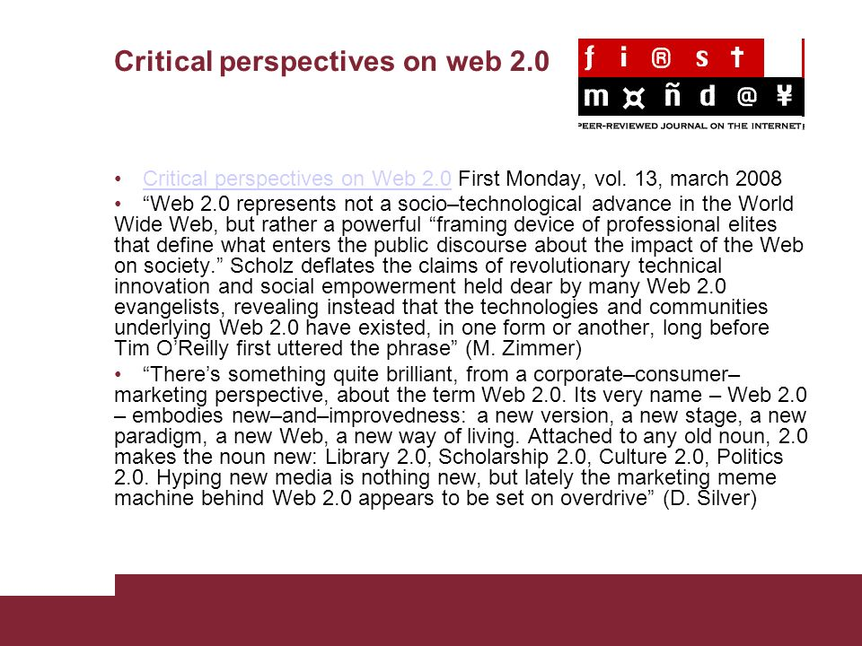 Critical perspectives on web 2.0