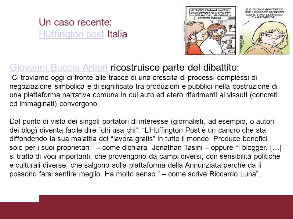 Un caso recente: Huffington post Italia