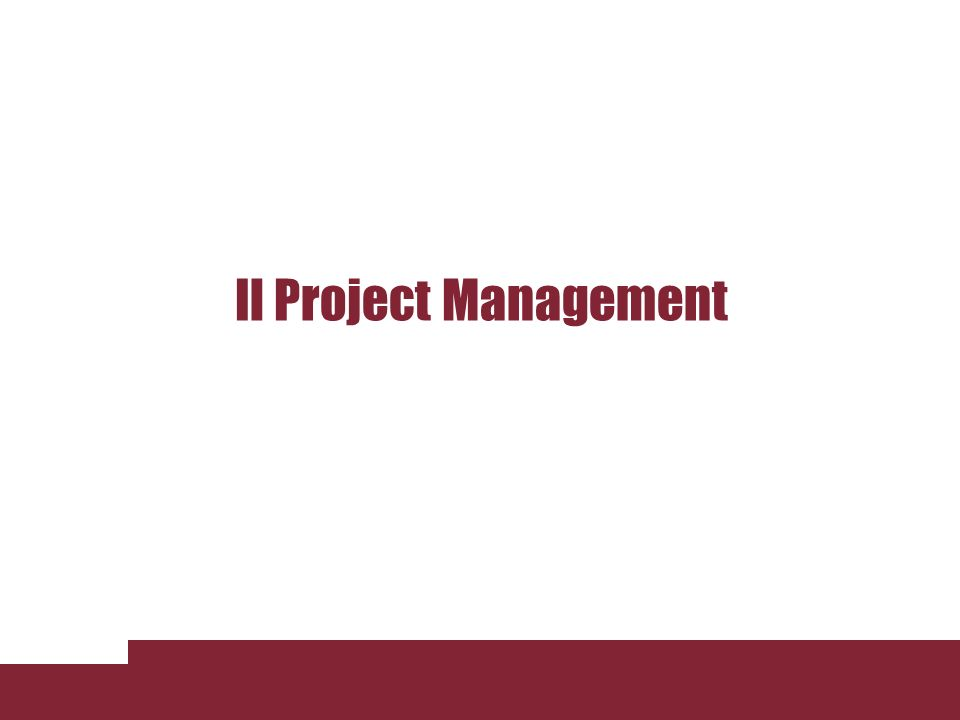 Il Project Management Lezione 3