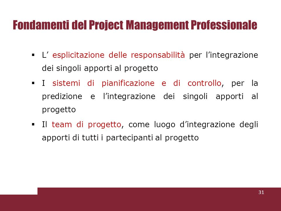 Fondamenti del Project Management Professionale