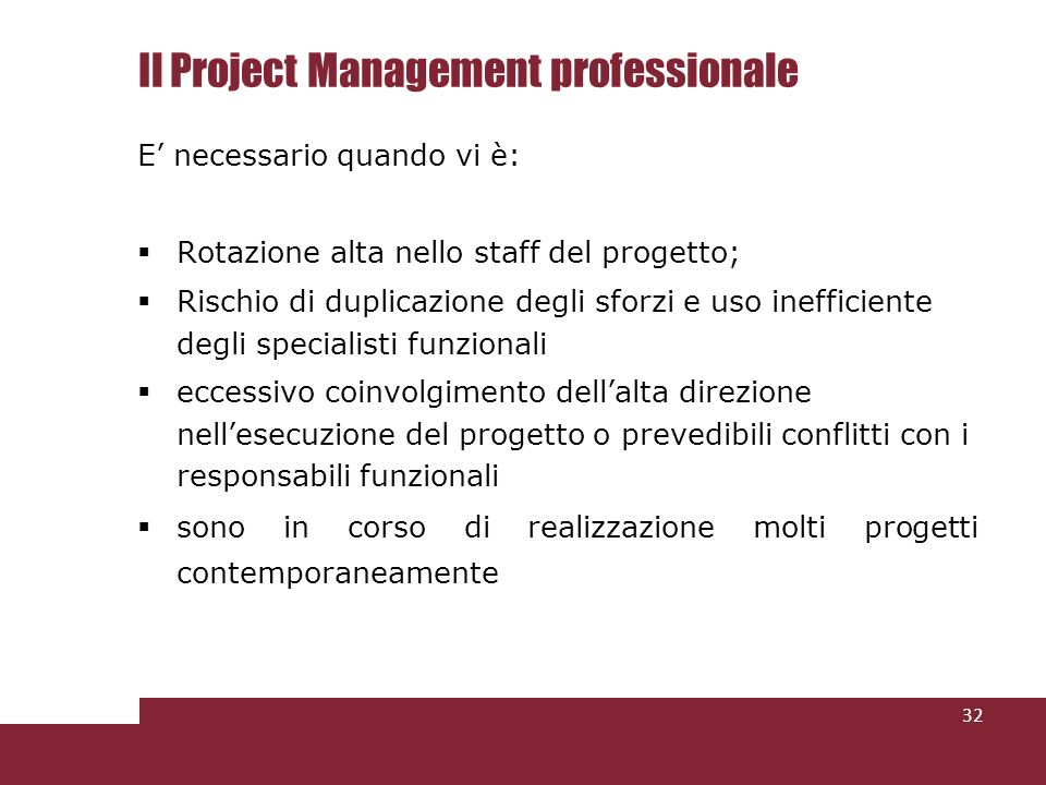 Il Project Management professionale