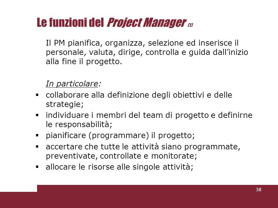 Le funzioni del Project Manager (1)