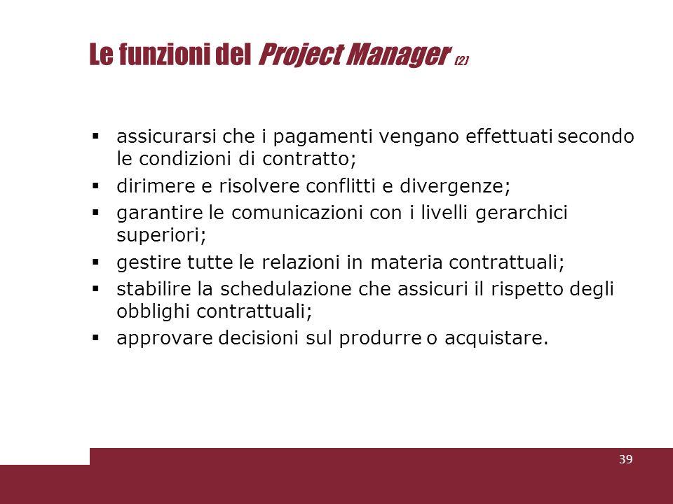 Le funzioni del Project Manager (2)