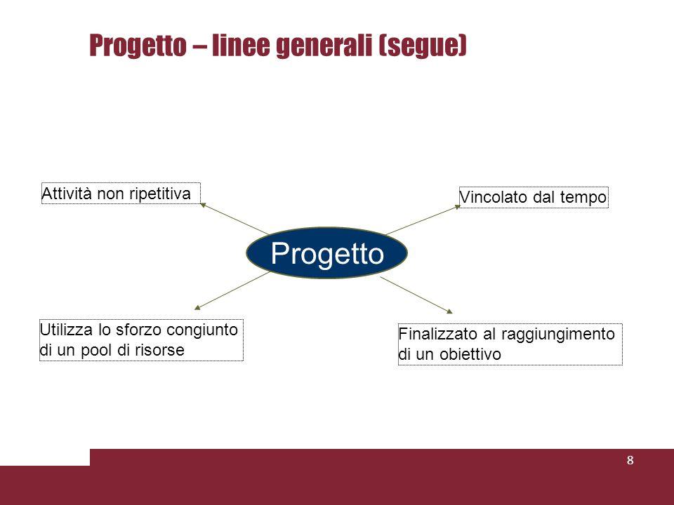 Progetto – linee generali (segue)