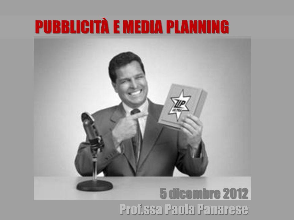PUBBLICITÀ E MEDIA PLANNING