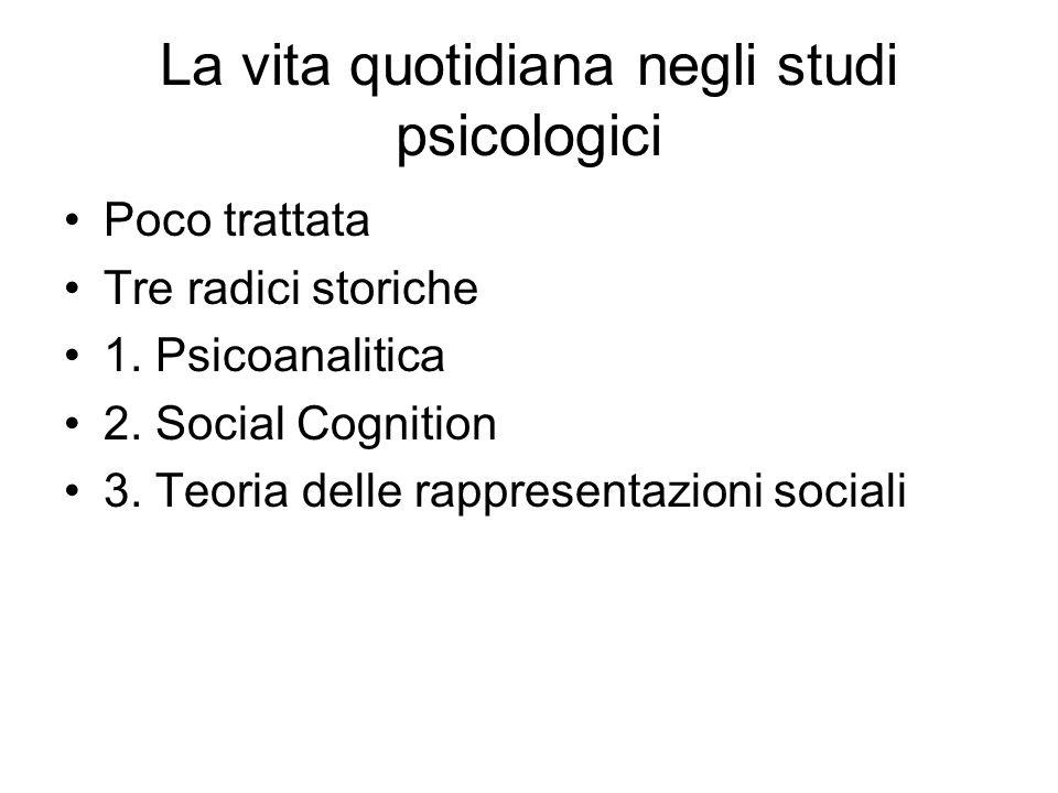 La vita quotidiana negli studi psicologici