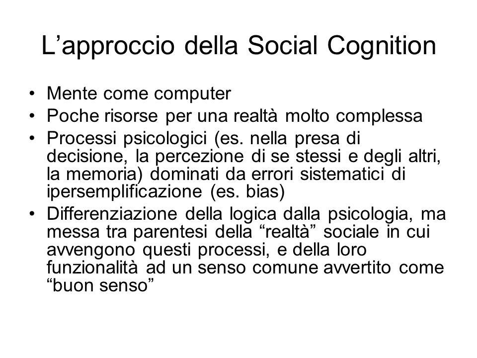 L'approccio della Social Cognition