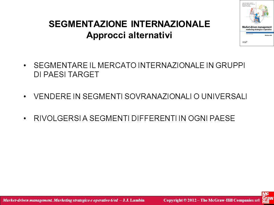 SEGMENTAZIONE INTERNAZIONALE Approcci alternativi
