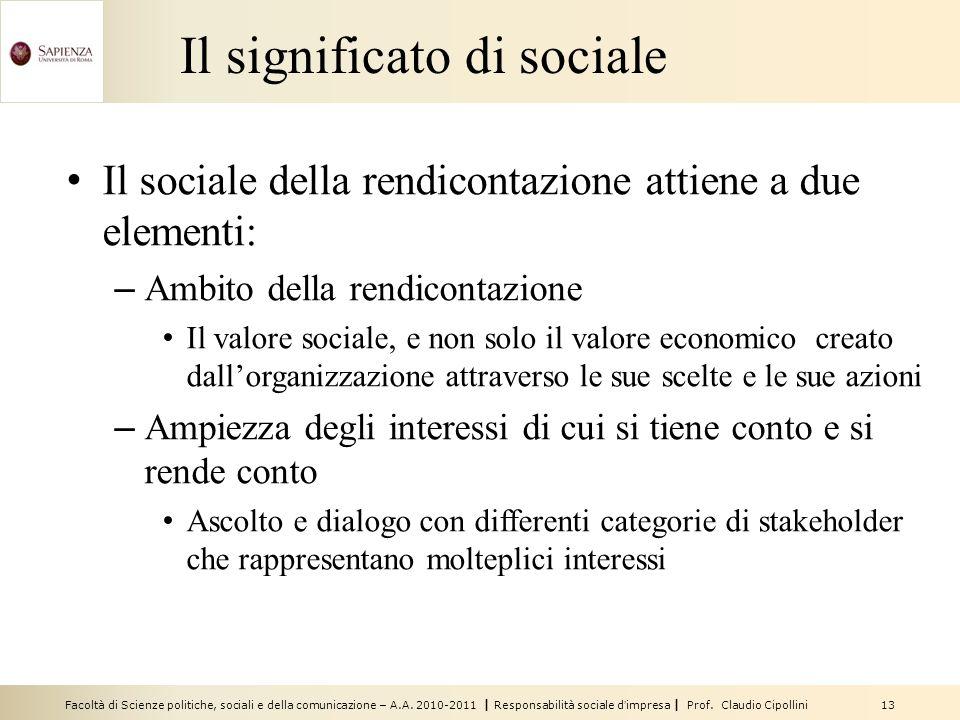 Il significato di sociale