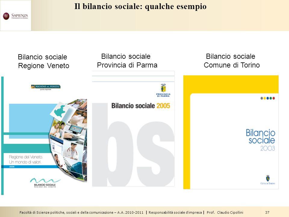 Il bilancio sociale: qualche esempio