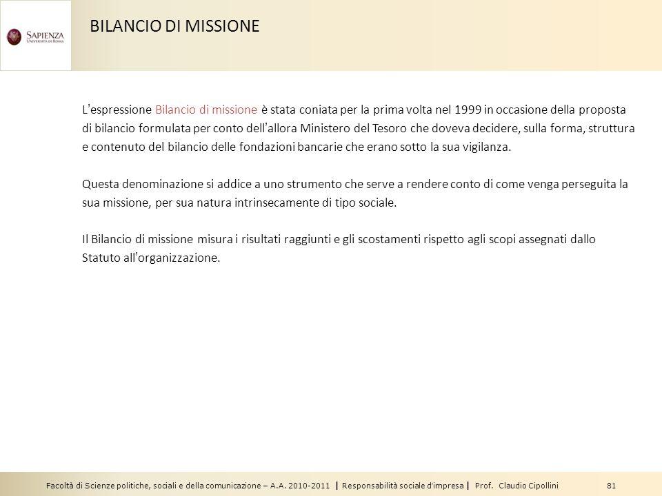 BILANCIO DI MISSIONE