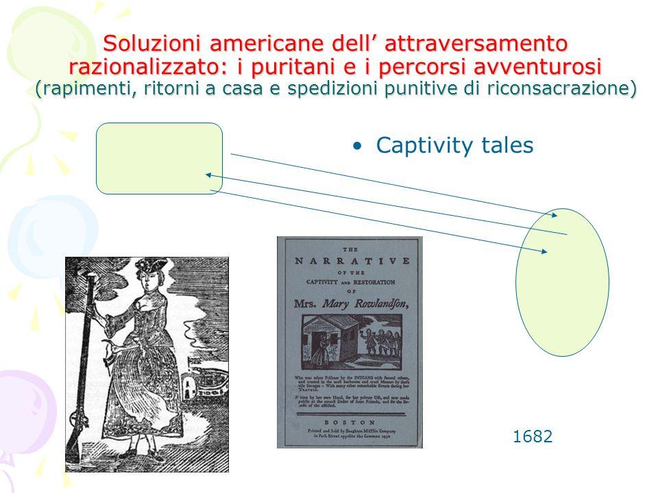 Soluzioni americane dell' attraversamento razionalizzato: i puritani e i percorsi avventurosi (rapimenti, ritorni a casa e spedizioni punitive di riconsacrazione)