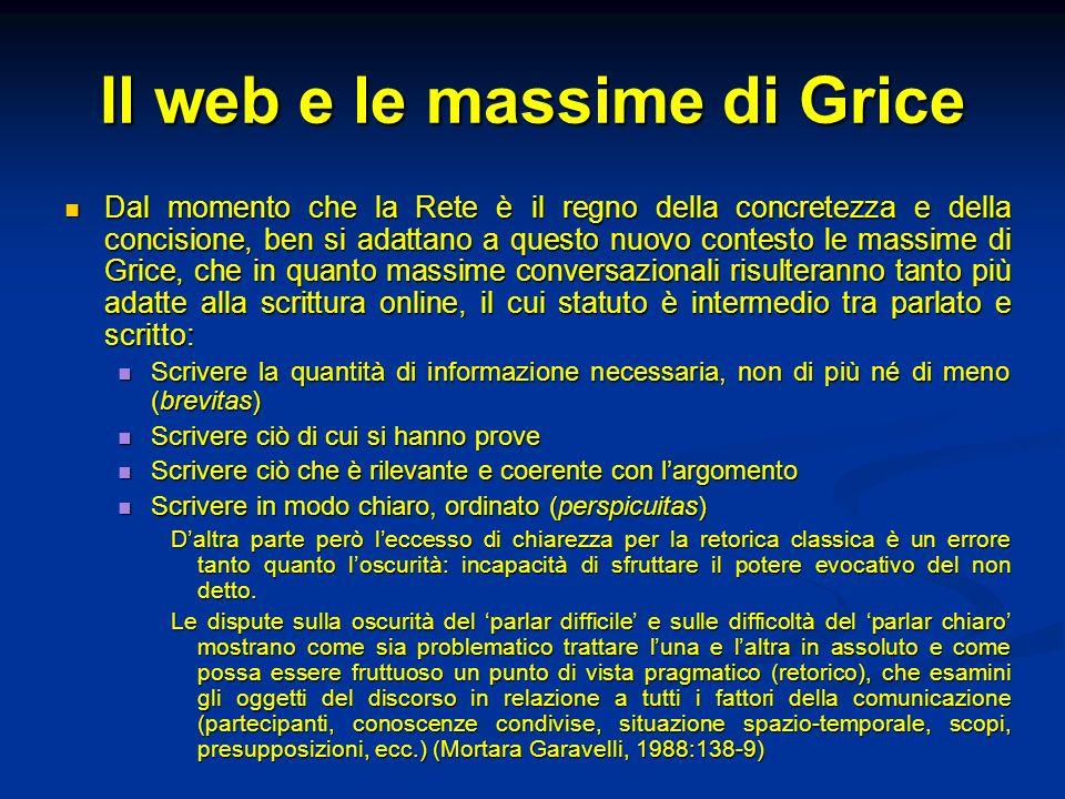 Il web e le massime di Grice