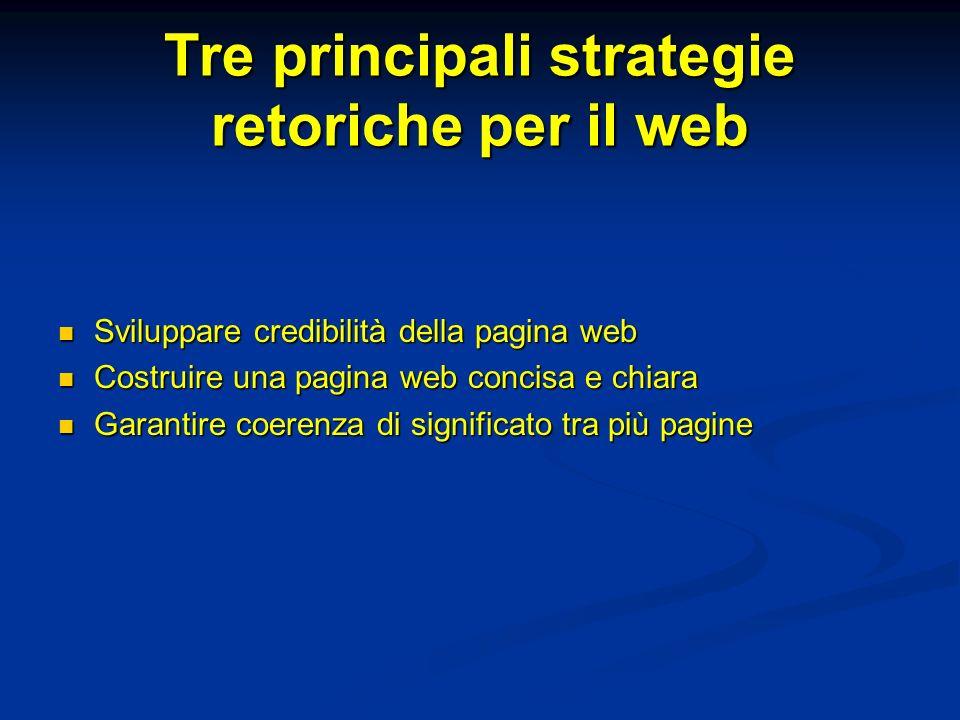 Tre principali strategie retoriche per il web