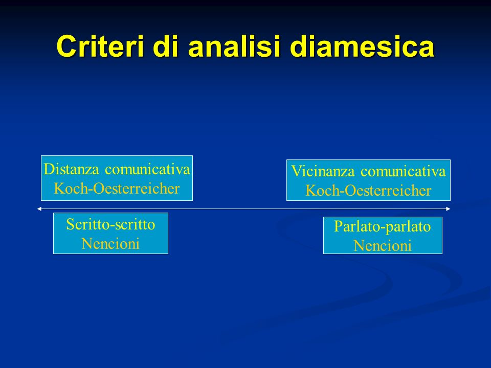Criteri di analisi diamesica